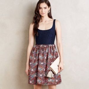 Anthropologie Weston Lufta Lace Floral Dress